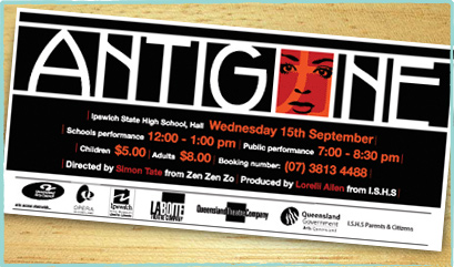 Antigone Flyer Design